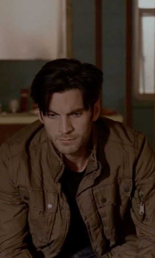 Wes Bentley with Austin Reed Rust Wash Jacket in American Horror Story