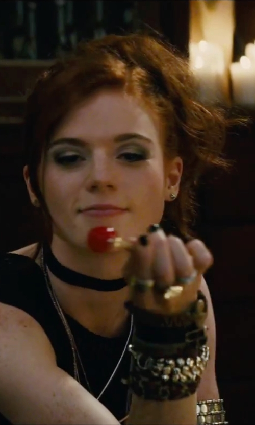 Rose Leslie with Michael Kors Fulton Logo Pavé Band Ring in The Last Witch Hunter