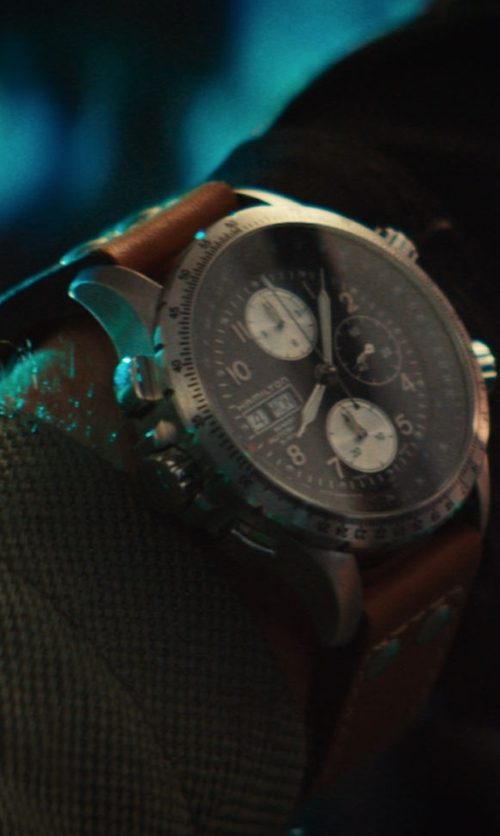 Liam Hemsworth with Hamilton Khaki X-Wind Automatic Watch in Independence Day: Resurgence