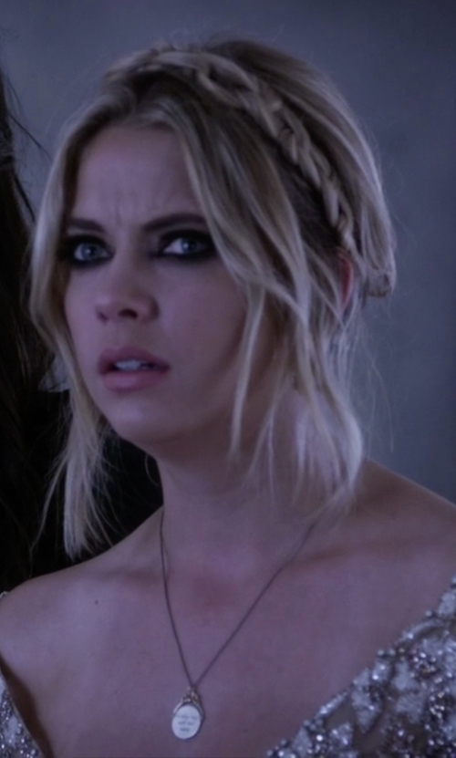 Ashley Benson with Workhorse Jewelry Corinna Necklace in Pretty Little Liars