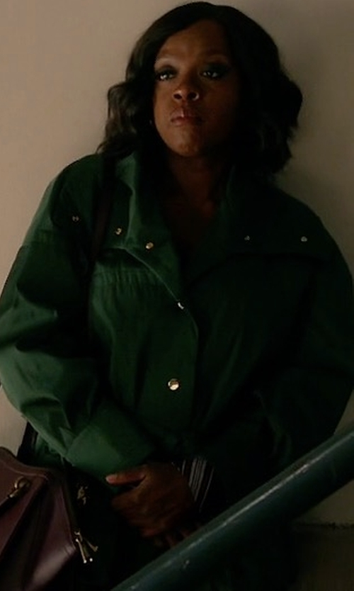 Viola Davis with Moncler Aredhel Hooded Down Fur-Trim Jacket in How To Get Away With Murder