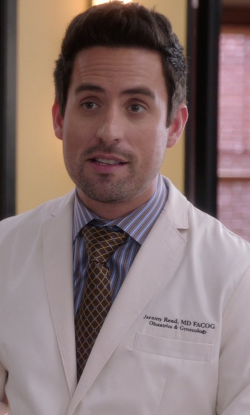 Ed Weeks with Gucci Cotton Point Collar Dress Shirt in The Mindy Project