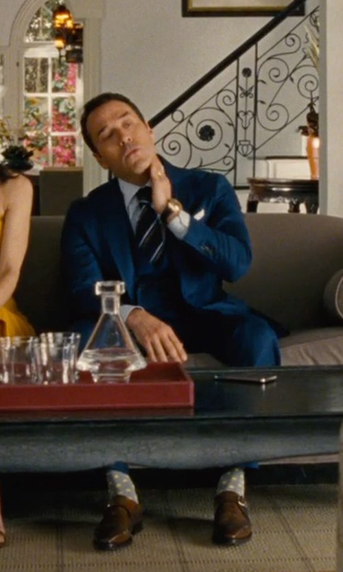 Jeremy Piven with Punto Polka Dot Cashmere Socks in Entourage