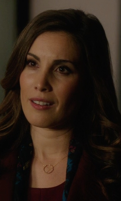 Carly Pope with Peggy Li Small Suspension Necklace in Arrow