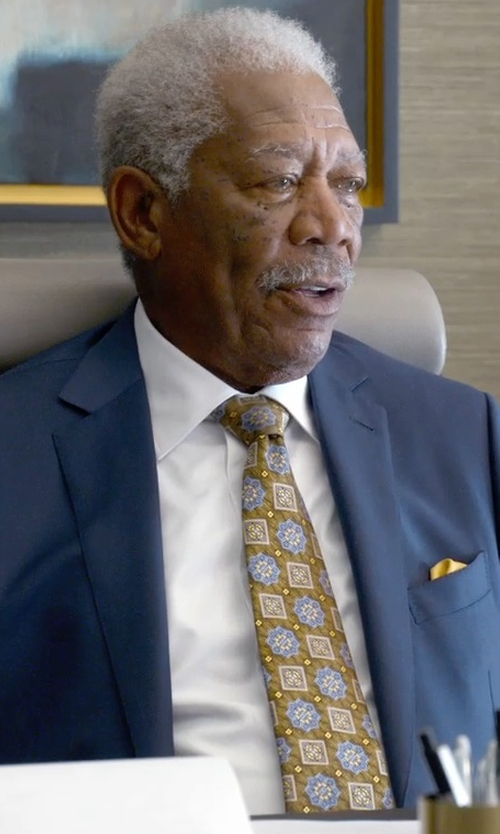 Morgan Freeman with Ermenegildo Zenga Medallion Tie in Ted 2