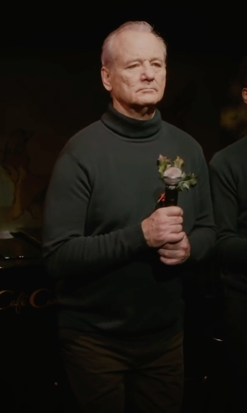 Bill Murray with Brooks Brothers Milano Fit Brushed Twill Chinos in A Very Murray Christmas