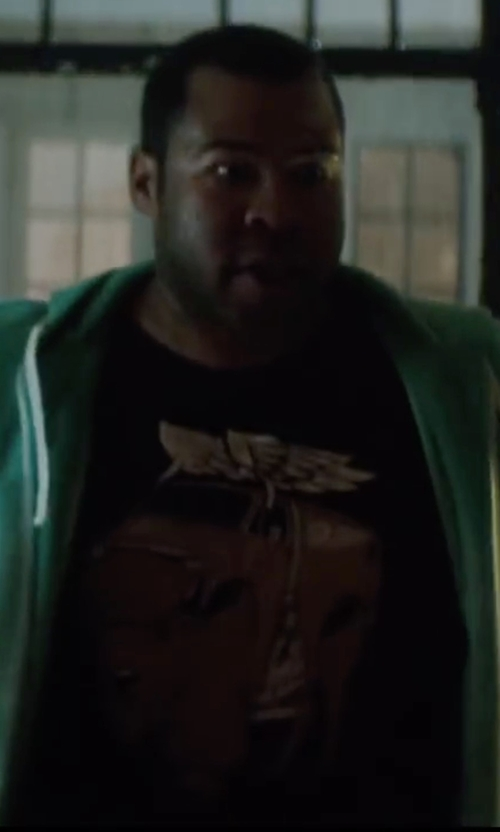 Jordan Peele with Jeremy Fish Plains Drifter T-Shirt in Keanu