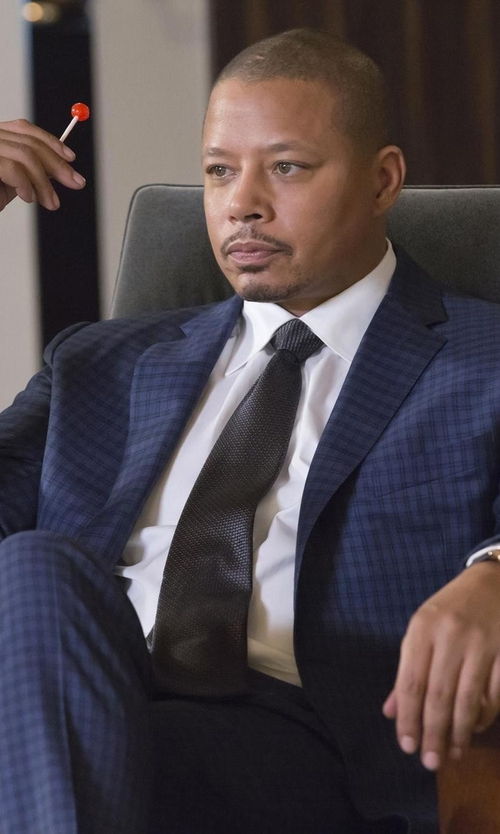 Terrence Howard  with Isaia Box Check Two-Piece Suit in Empire