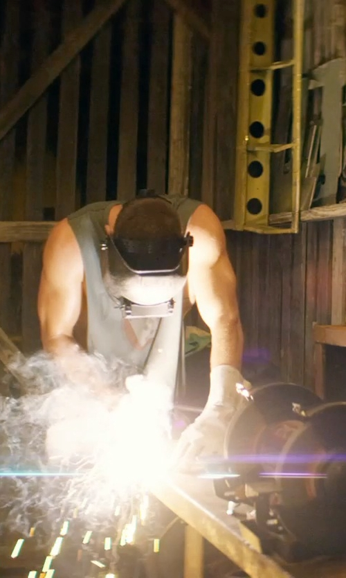 Channing Tatum with Hobart Flip Front Welding Helmet in Magic Mike XXL