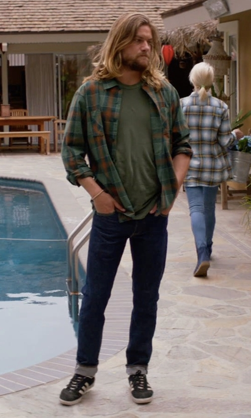 Jake Weary with Adidas Men's Campus Sneakers in Animal Kingdom