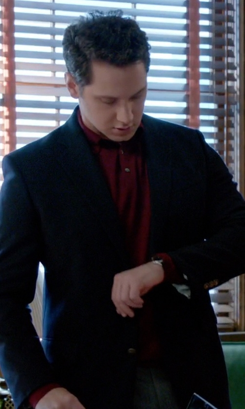 Matt McGorry with Hugo Boss Banet Knitted Polo Shirt in How To Get Away With Murder