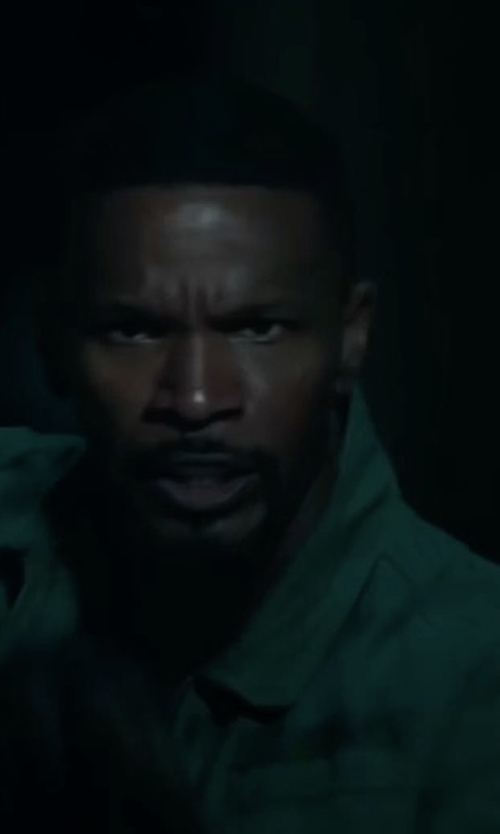Jamie Foxx with Undefeated Field Jacket in Sleepless
