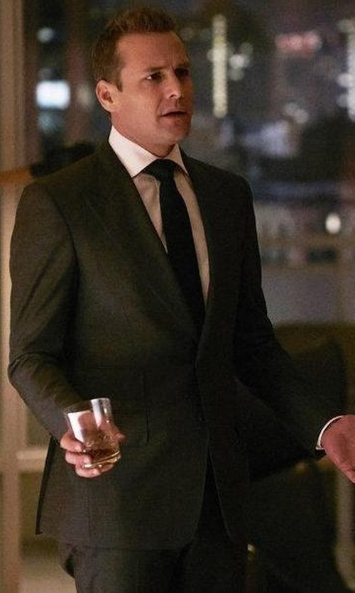 Gabriel Macht with Tom Ford Sharkskin Wool Suit in Suits