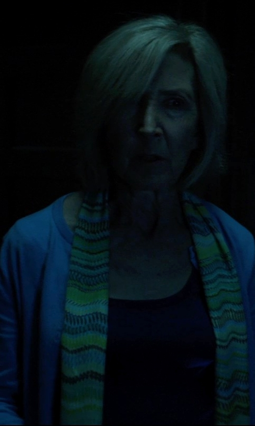 Lin Shaye with Jones New York Long Sleeve Open Front Cardigan in Insidious: Chapter 3