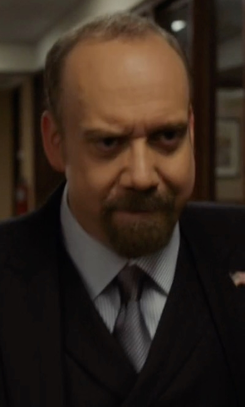 Paul Giamatti with Pal Zileri Modern-Fit Wool Suit in Billions