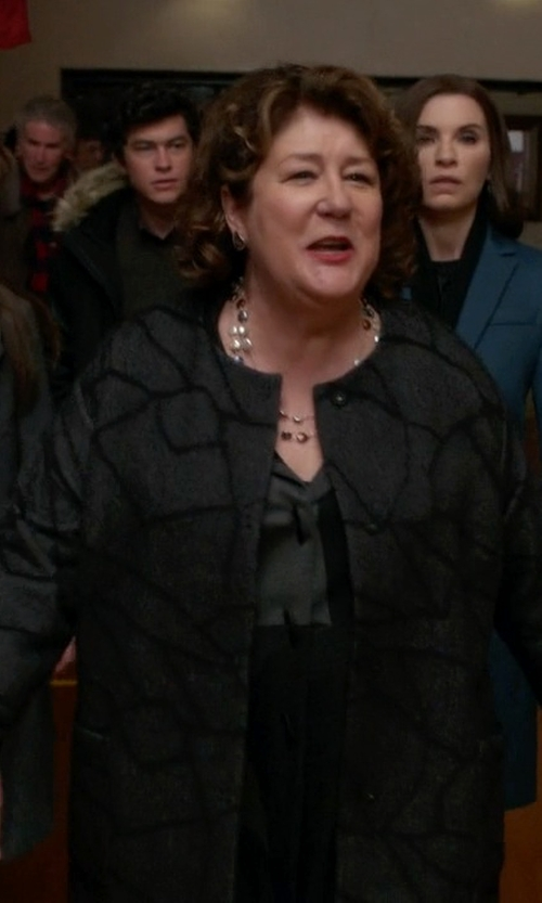 Margo Martindale with Eileen Fisher Abstract Print Coat in The Good Wife