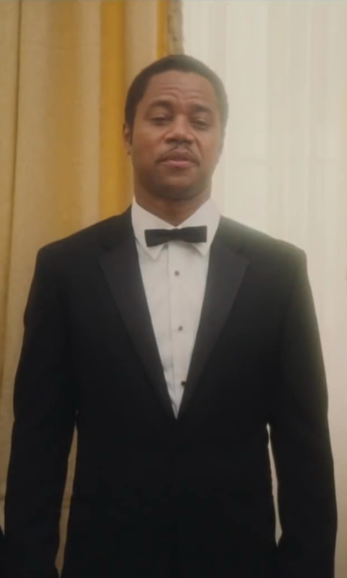 Cuba Gooding Jr. with The Tie Bar Silk Solid Self-Tie Slim Bow Tie in Lee Daniels' The Butler