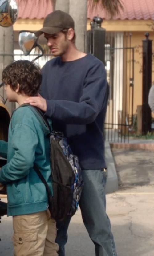 Andrew Garfield with Tommy Bahama Denim 'Nash' Straight Leg Jeans in 99 Homes