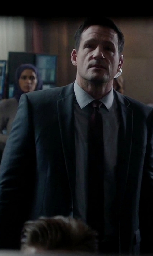Josh Hopkins with Burberry London Two Piece Suit in Quantico