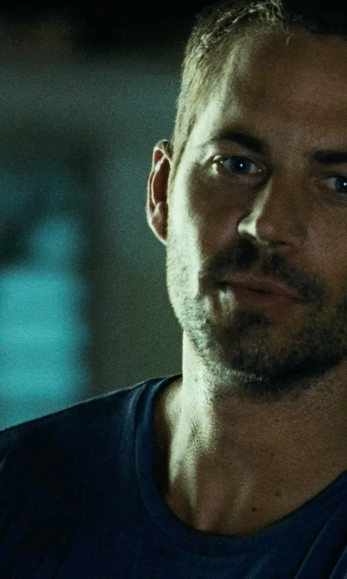 Paul Walker with Issey Miyake Men Crew Neck T-Shirt in Fast Five