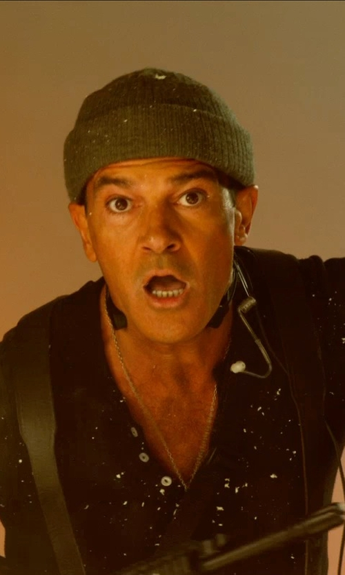 Antonio Banderas with Sun 68 Beanie in The Expendables 3