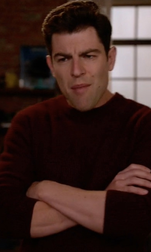 Max Greenfield with Rolla's Crew Sweater in New Girl