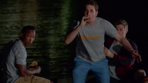 "Ben Platt with District Modified ""Treblemakers"" Mini Rib Crew Tee in Pitch Perfect 2"