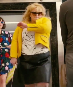 Rebel Wilson with Bella René Leather Pencil Skirt in How To Be Single
