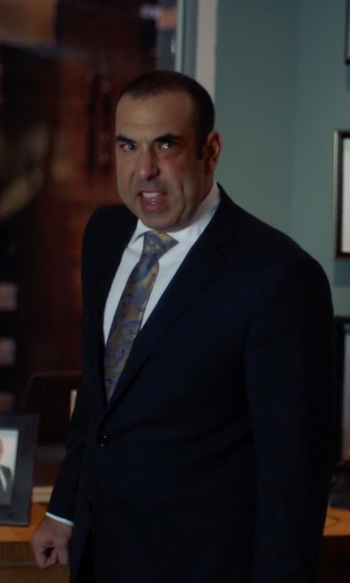 Rick Hoffman with Giorgio Armani Two Piece Suit in Suits