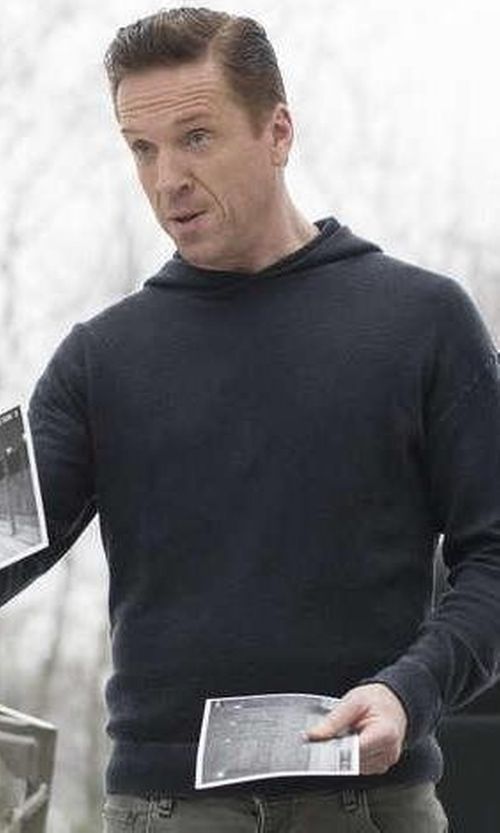 Damian Lewis with John Elliott Co. Hooded Villain in Billions