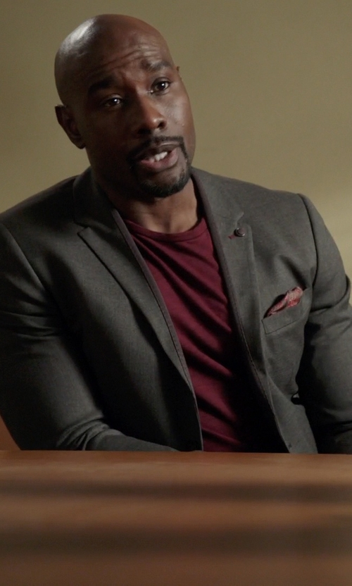Morris Chestnut with Dolce & Gabbana Solid Blazer in Rosewood