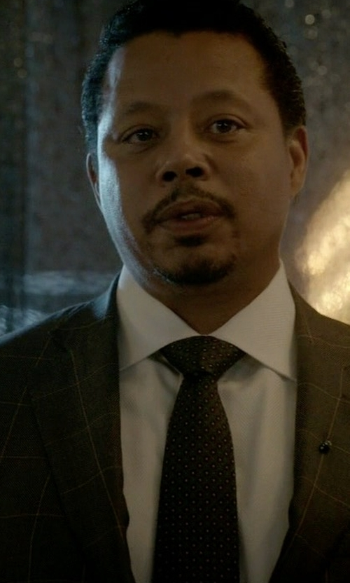 Terrence Howard  with Ralph Lauren Purple Label Windowpane Plaid Suit in Empire