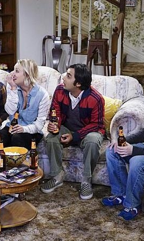 Kunal Nayyar with Adidas Performance Men's Essential Tricot Jacket in The Big Bang Theory