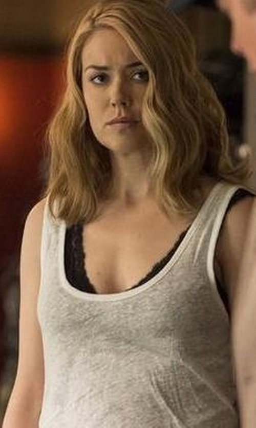 Megan Boone with Transit Long Semi Sheer Tank Top in The Blacklist