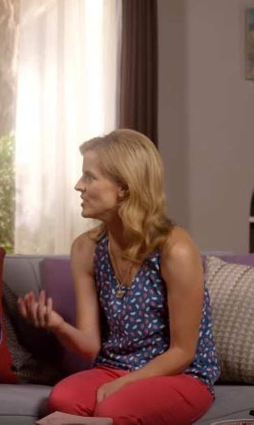 Maria Bamford with Rebecca Taylor Criss Cross Print Top in Lady Dynamite