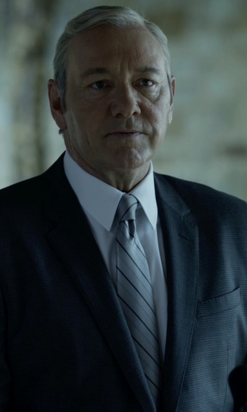 Kevin Spacey with Hugo Boss Hutson/Gander Slim Fit Italian Virgin Wool Suit in House of Cards