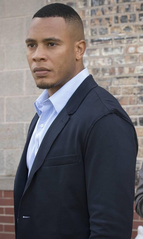 Trai Byers with Theory Wellar New Tailor Blazer in Empire