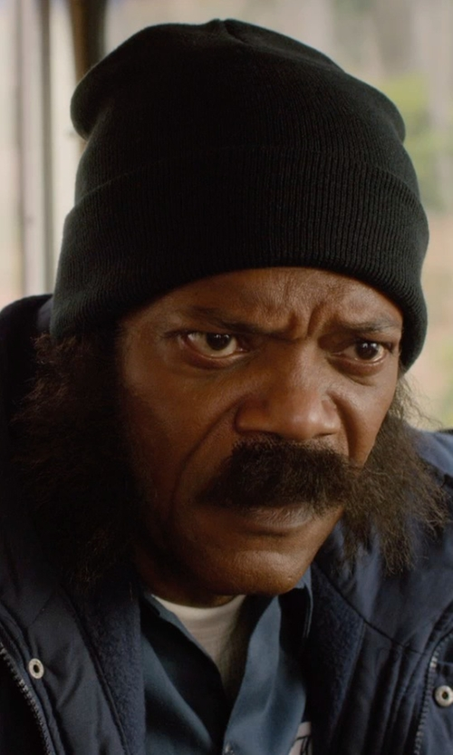 Samuel L. Jackson with Converse Slouchy Rib Knit Beanie in Barely Lethal