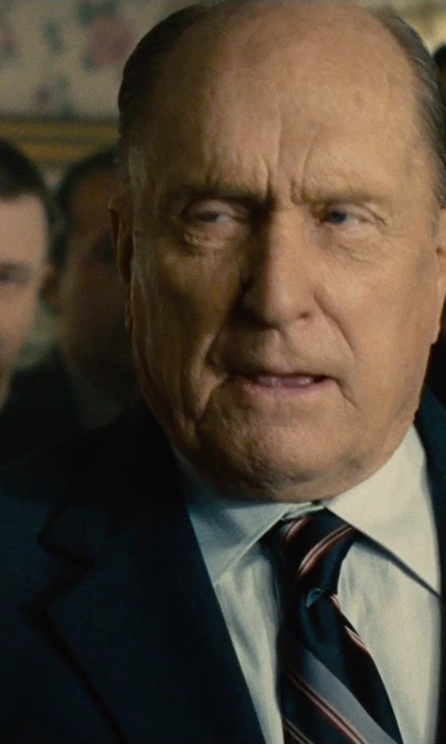 Robert Duvall with Kiton Basic Poplin Dress Shirt in The Judge