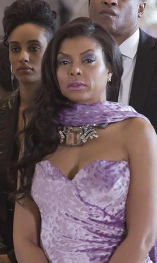 Taraji P. Henson with La Femme Ombré Chiffon Gown in Empire