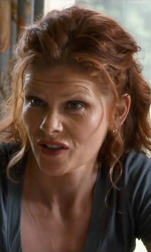 Lolita Davidovich with Argento Vivo Small Hoop Earrings in The Longest Ride