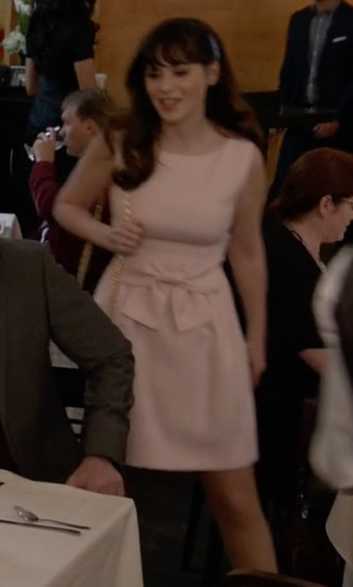 Zooey Deschanel with Ted Baker Nuhad Bow Dress in New Girl