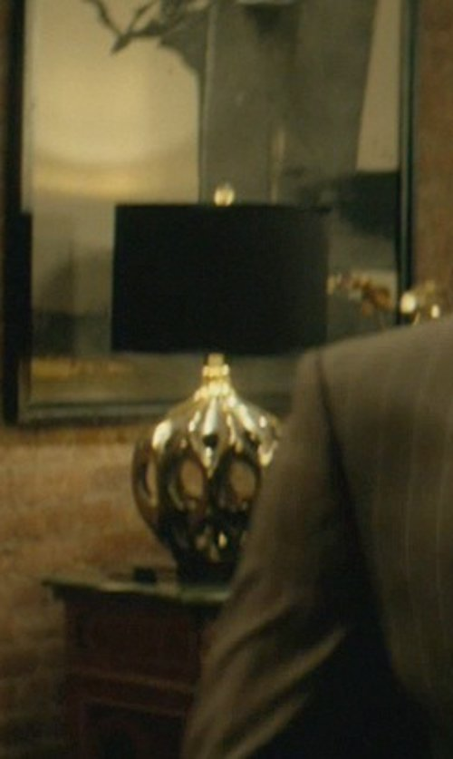 Michael Nyqvist with Ren-Wil Flair Chrome Table Lamp in John Wick