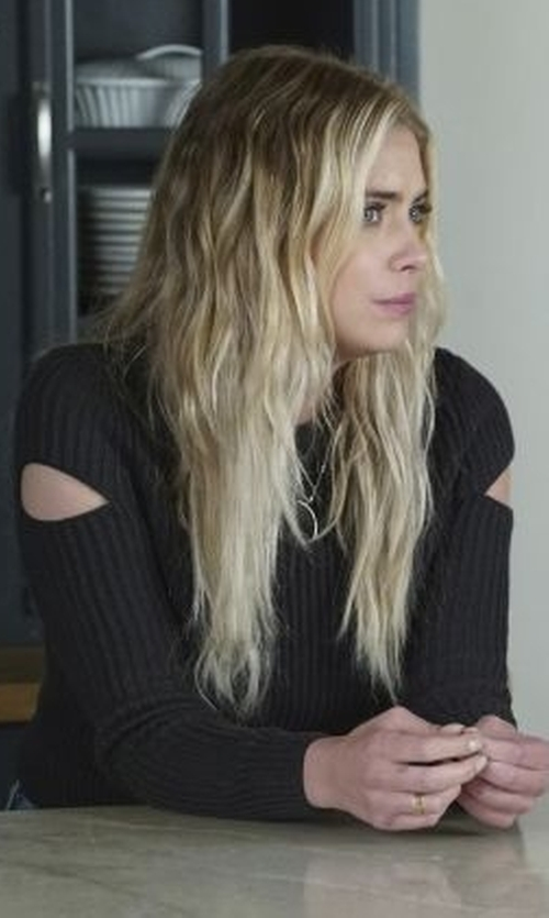 Ashley Benson with AllSaints Ria Cropped Sweater in Pretty Little Liars