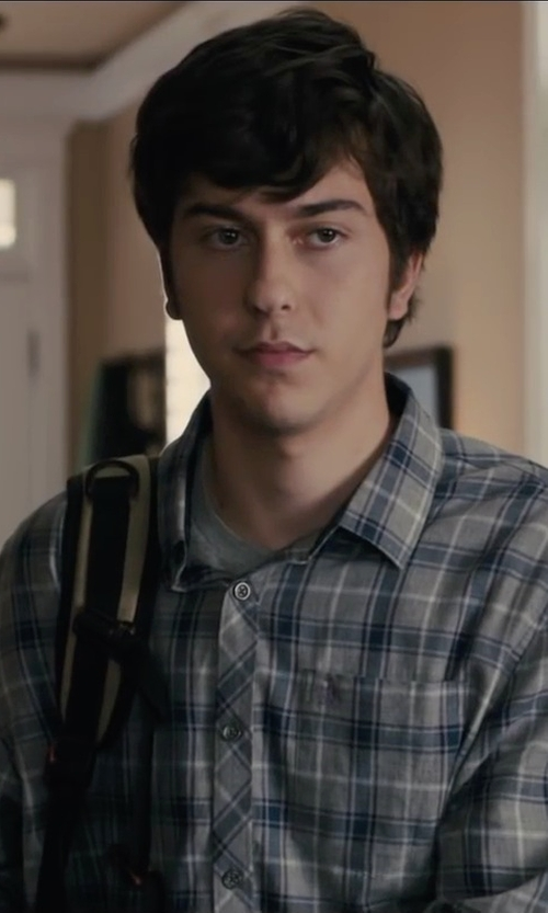 Nat Wolff with Dickies Men's Flame-Resistant Long Sleeve Plaid Shirt in Paper Towns