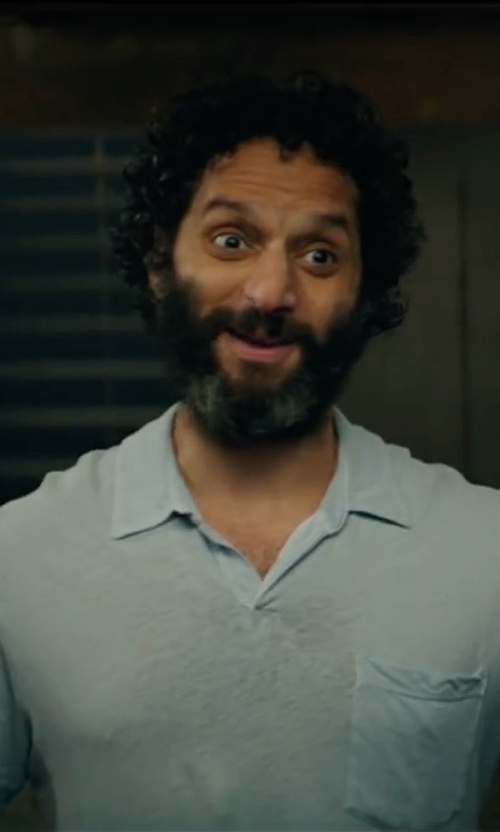 Jason Mantzoukas with Orlebar Brown Terry Polo Shirt in The House