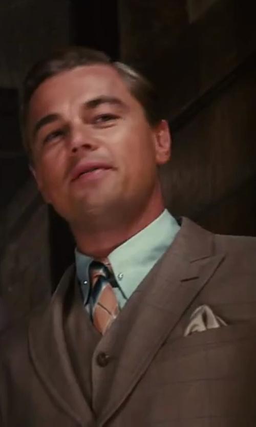 Leonardo DiCaprio with Salvatore Ferragamo Silk Jacquard Pocket Square in The Great Gatsby