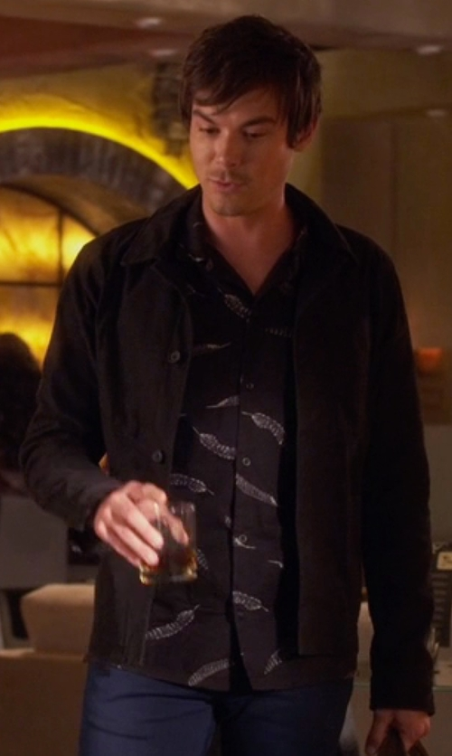 Tyler Blackburn with Theory Coaches Jacket in Pretty Little Liars