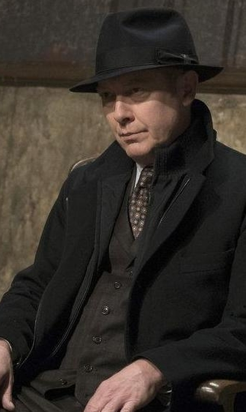 James Spader with Filson Mackinaw Western Vest in The Blacklist
