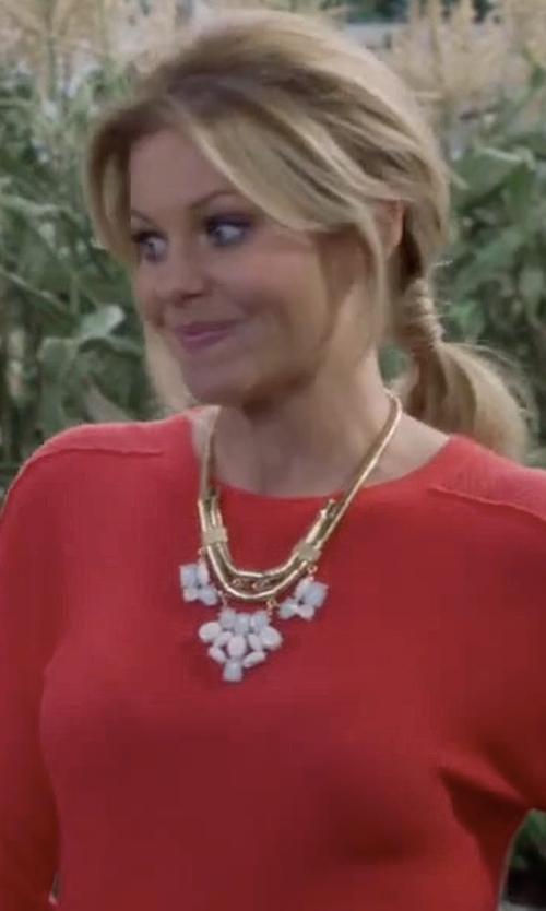 Candace Cameron Bure with Splendid Quincy Sweater in Fuller House